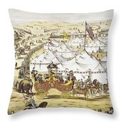 American Circus, C1874 Throw Pillow