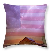 American Country Stormy Night Throw Pillow