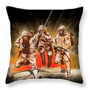 American Courage Throw Pillow