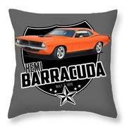 American 'cuda Throw Pillow