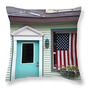 American Curtain  Throw Pillow