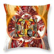 American Dream Burning - Workers Betrayed Throw Pillow