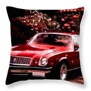 American Dream Cars Catus 1 No. 1 H B Throw Pillow