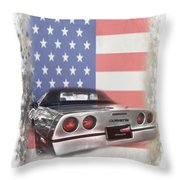 American Dream Machine Throw Pillow