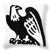 American Eagle, 1854 Throw Pillow
