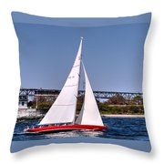 American Eagle Newport Ri Throw Pillow