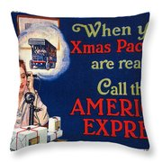 American Express Shipping Throw Pillow