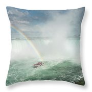 Horseshoe Waterfall At Niagara Falls Throw Pillow