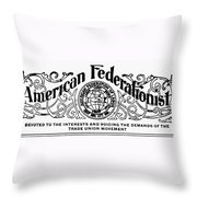 American Federationist Throw Pillow
