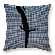American Five-lined Skink Throw Pillow