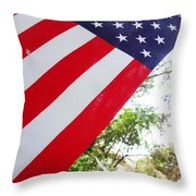 American Flag 1 Throw Pillow