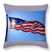 American Flag Fort Sumter Throw Pillow