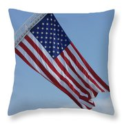 American Flag Throw Pillow