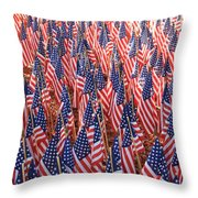 American Flags In Tampa Throw Pillow