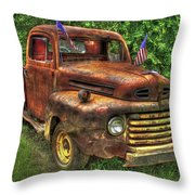 American Ford 1950 F-1 Ford Pickup Truck Art Throw Pillow