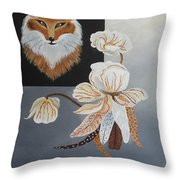 American Fox Throw Pillow