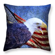 American Freedom  Throw Pillow by Nicole Markmann Nelson