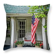 American Front Porch Throw Pillow