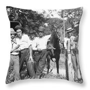 American Gang, C1900 Throw Pillow