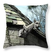 American Gargoyle Throw Pillow