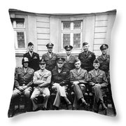 American Generals Wwii  Throw Pillow