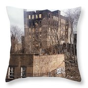 American Ghetto - The South Bronx In New York City Throw Pillow