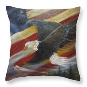 American Glory Throw Pillow