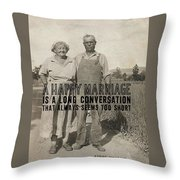 American Gothic Quote Throw Pillow