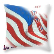 American Hearts Throw Pillow
