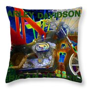 American Hellriders Throw Pillow