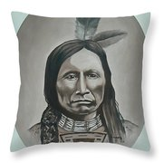 American Horse Throw Pillow