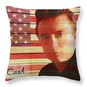 American Icon Johnny Cash Throw Pillow