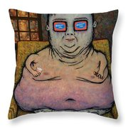 American Idle Throw Pillow by James W Johnson