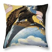 American Imperialism, 1904 Throw Pillow