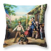 American Independence 1859 Throw Pillow