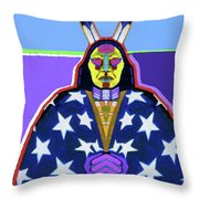 American Indian By Nixo Throw Pillow