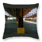 American Industry Throw Pillow