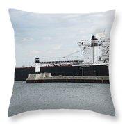 American Integrity Ship Throw Pillow