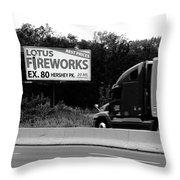 American Interstate - Pennsylvania I-80 Bw 2 Throw Pillow