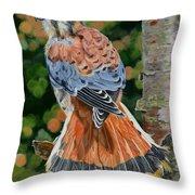 American Kestrel In My Garden Throw Pillow
