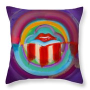 American Kiss Throw Pillow