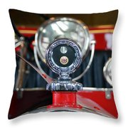 American Lafrance Vintage Fire Truck Gas Cap Throw Pillow