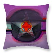 American Lilac Throw Pillow
