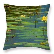 American Lotus Throw Pillow