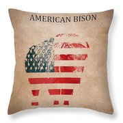 American Mammal The Bison Throw Pillow