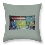 American Marriage Throw Pillow