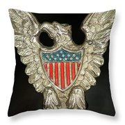 American Metal Eagle Throw Pillow