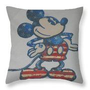 American Mouse Throw Pillow