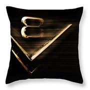 American Muscle V8 Throw Pillow