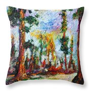 American National Parks Redwood Trees Throw Pillow